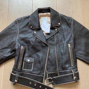 Sandro - Shay leather biker jacket